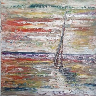 Painting Sailing in the serenity of the day