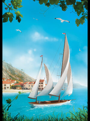 MediterraNaut, simulation of sailing and travelling Mediterranean