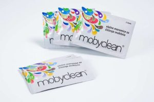 Mobyclean – 50 wet wipes for disinfecting and cleaning cell phones