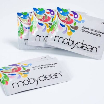 Mobyclean-wet wipes for disinfecting screens