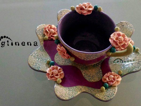 šalica Iva - glinena handmade